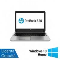 Laptop HP ProBook 650 G1, Intel Core i7-4600M 2.90GHz, 8GB DDR3, 120GB SSD, 15.6 Inch, DVD-RW, Webcam + Windows 10 Home