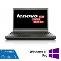 Laptop LENOVO ThinkPad T540P, Intel Core i7-4810MQ 2.80GHz, 8GB DDR3, 240GB SSD, DVD-RW, Full HD, Fara Webcam, 15.6 Inch + Windows 10 Pro