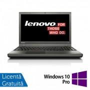 Laptop LENOVO ThinkPad T540p, Intel Core i5-4300M 2.60GHz, 8GB DDR3, 120GB SSD, DVD-RW, 15.6 Inch, Webcam + Windows 10 Pro