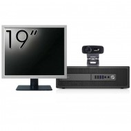 Pachet Calculator HP 800 G2 SFF, Intel Core i5-6500 3.20GHz, 8GB DDR4, 240GB SSD + Monitor 19 Inch + Webcam + Tastatura si Mouse