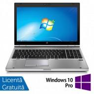 Laptop HP EliteBook 8570p, Intel Core i7-3520M 2.90GHz, 4GB DDR3, 120GB SSD, DVD-RW, 15.6 Inch, Webcam, Tastatura Numerica + Windows 10 Pro