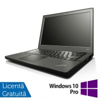 Laptop LENOVO Thinkpad x240, Intel Core i7-4600U 2.10GHz, 8GB DDR3, 120GB SSD, 12.5 Inch, Webcam + Windows 10 Pro