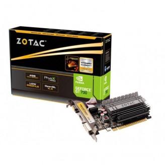 Placa Video Noua ZOTAC GeForce GT 730, 4GB GDDR3 64Bit, VGA, DVI, HDMI, PCI Express 2.0, High & Low Profile